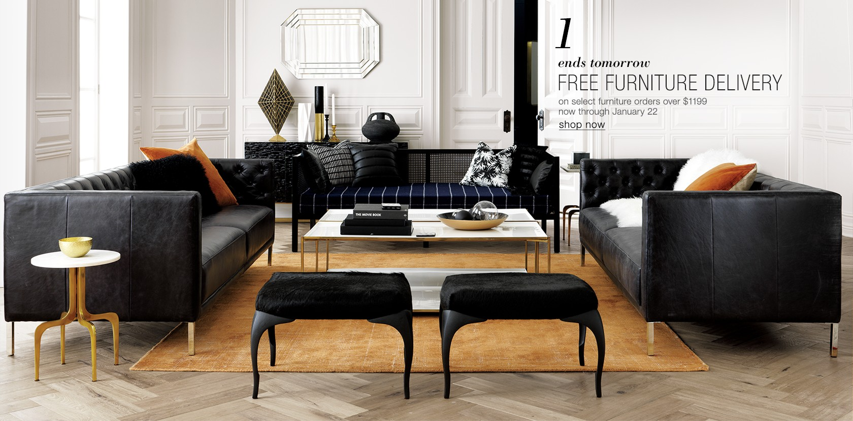 free furniture delivery on select orders $1199 or more