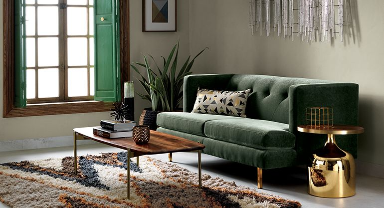 mid-century modern living room avec