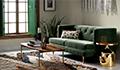 /mid-century modern living room avec
