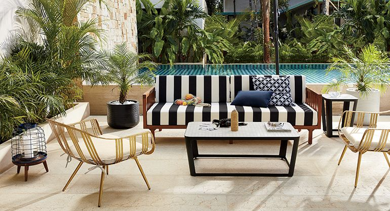 Black And White Outdoor Furniture #26: Black And White Tropez