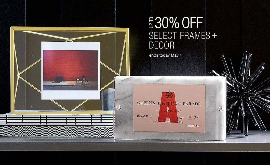 up to 30% off select frames and decor