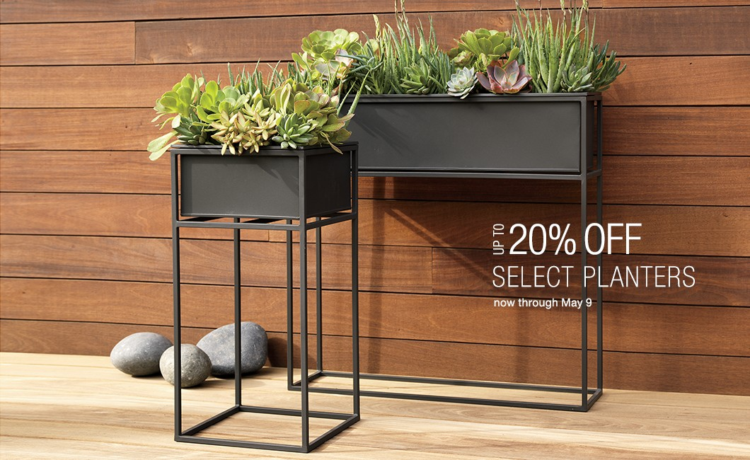 up to 20% off select planters