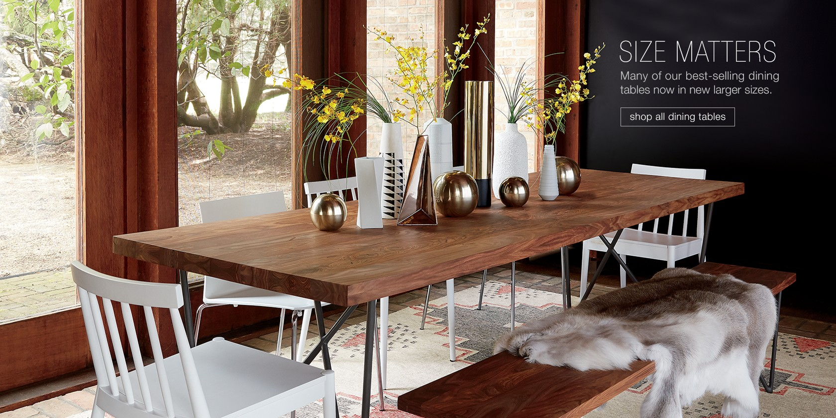 size matters. shop all dining tables.