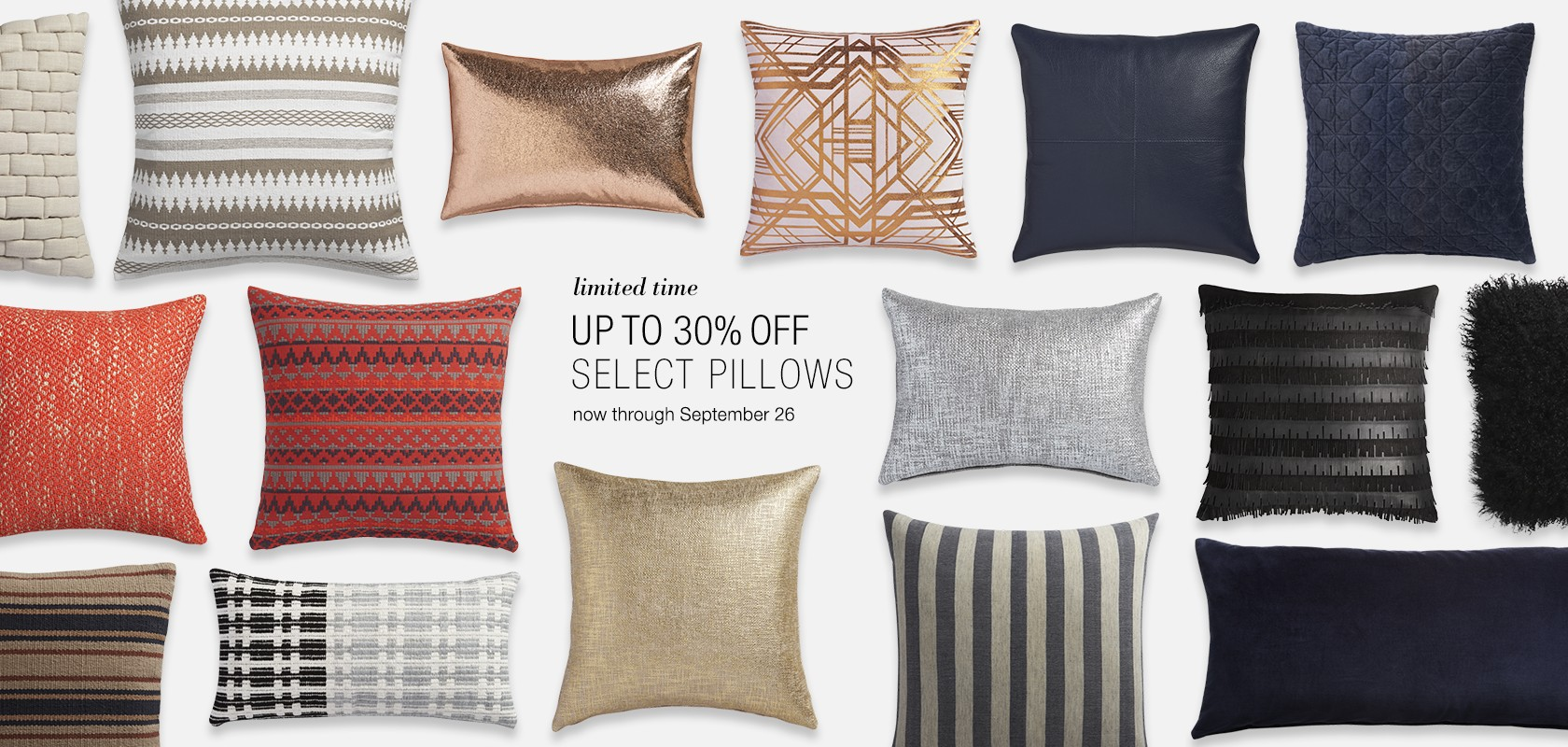 Up to 30% off select pillows