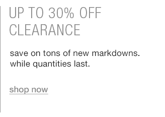 up to 30% off clearance