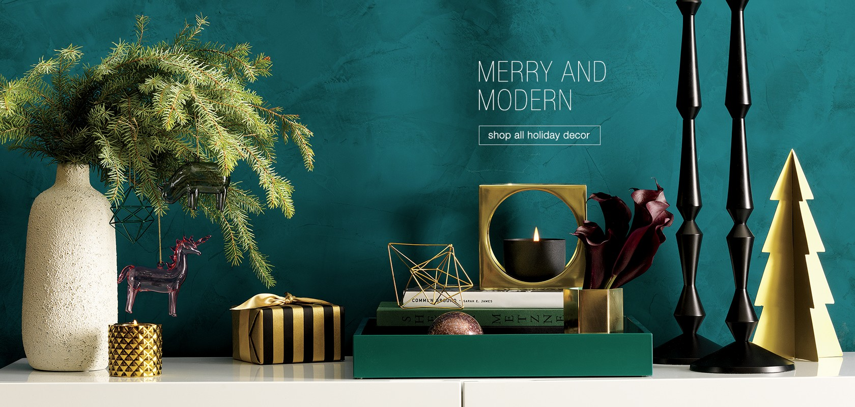 merry and modern, holiday decor