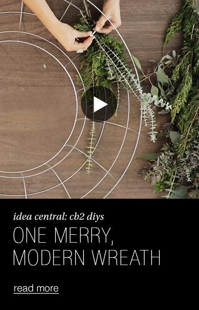 wire wreath ideas. one merry modern wreath.