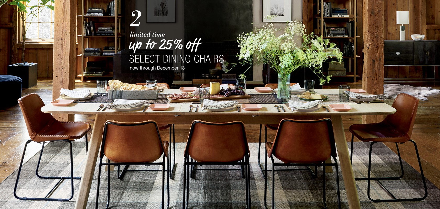 up to 25% off select dining chairs