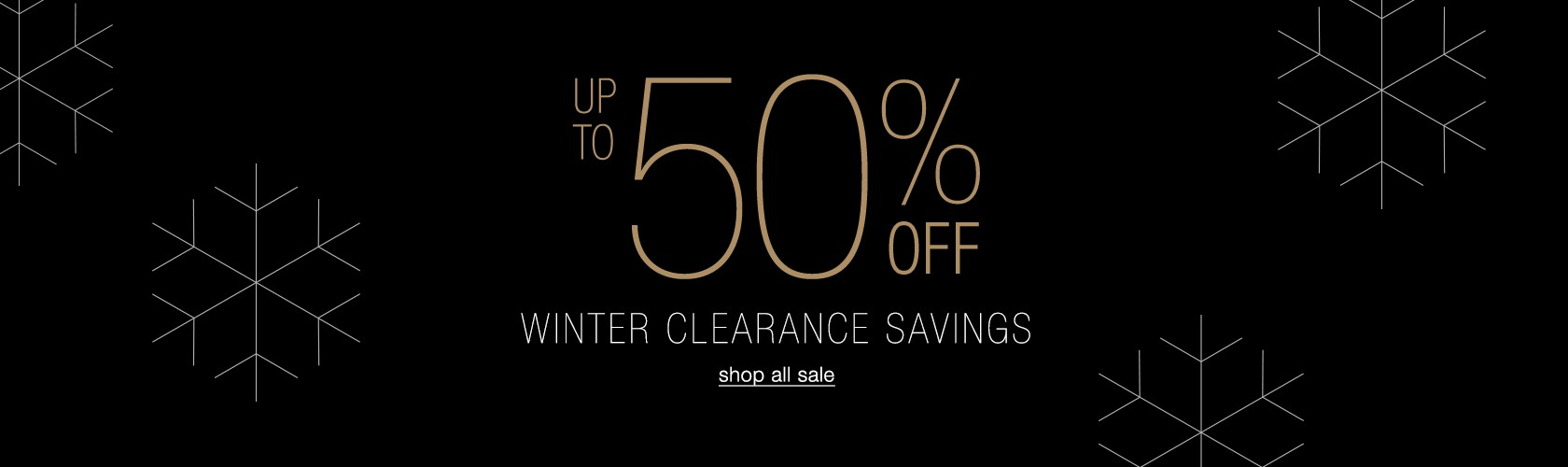 up to 50% off winter clearance savings
