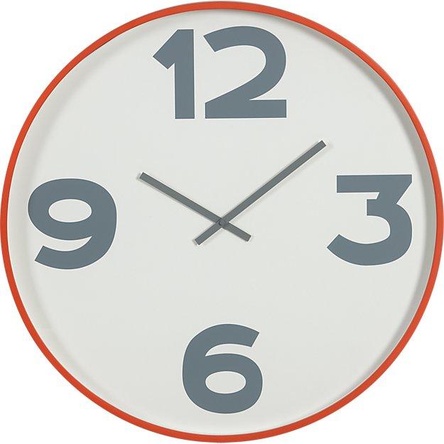 "12-3-6-9 24"" wall clock"
