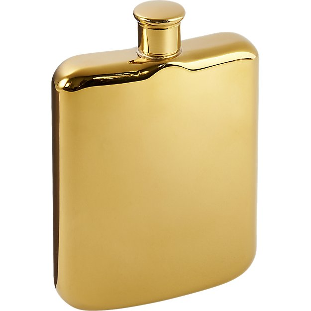 14k gold plated flask