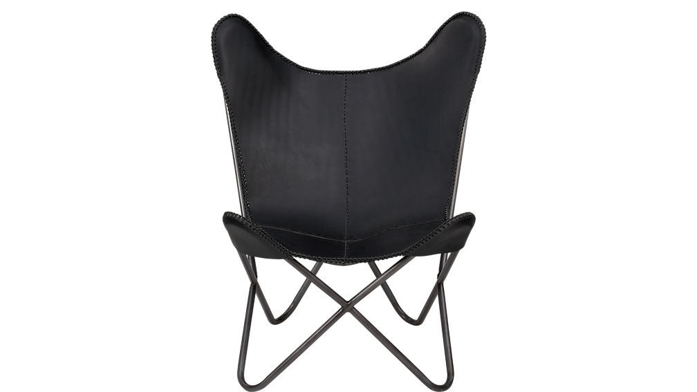 1938 black leather butterfly chair