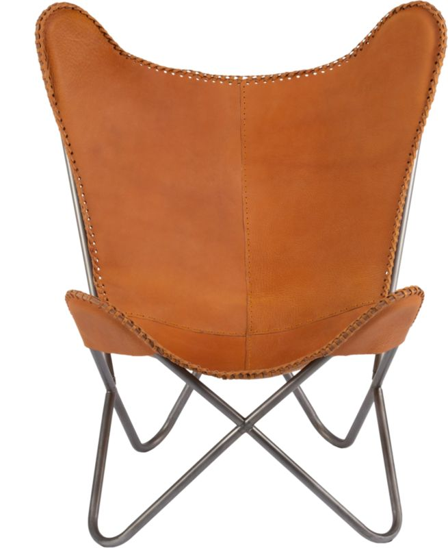 1938 tobacco leather butterfly chair