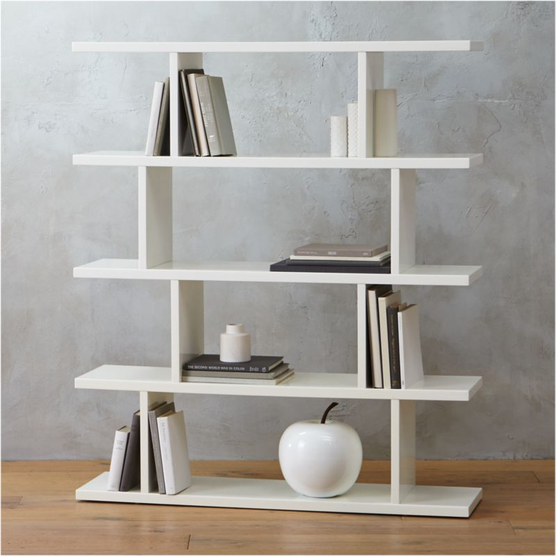 white bookcase cb2. Black Bedroom Furniture Sets. Home Design Ideas