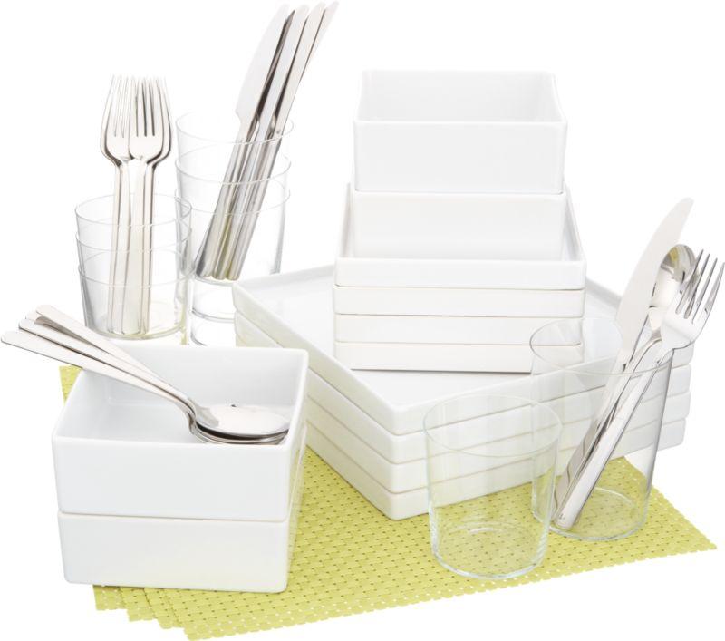 4 square chartreuse starter set