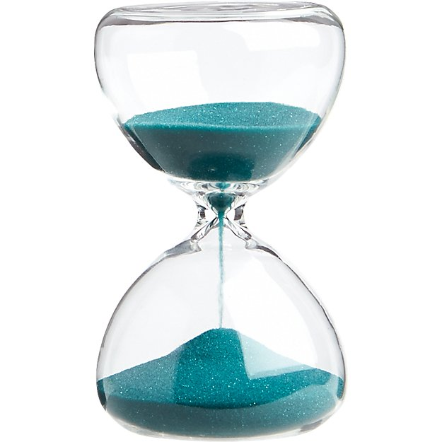5 minute Turquoise Hour Glass CB2