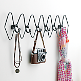6 hook gauge metal coat rack