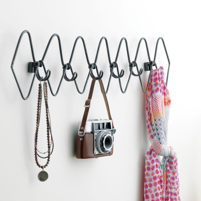 6 hook gauge metal coat rack