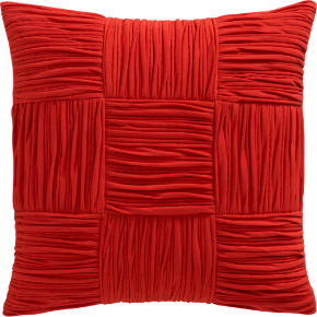 9 square burnt orange 18 pillow
