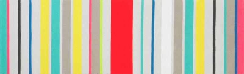 9 stripe dhurrie runner 2.5'x8'