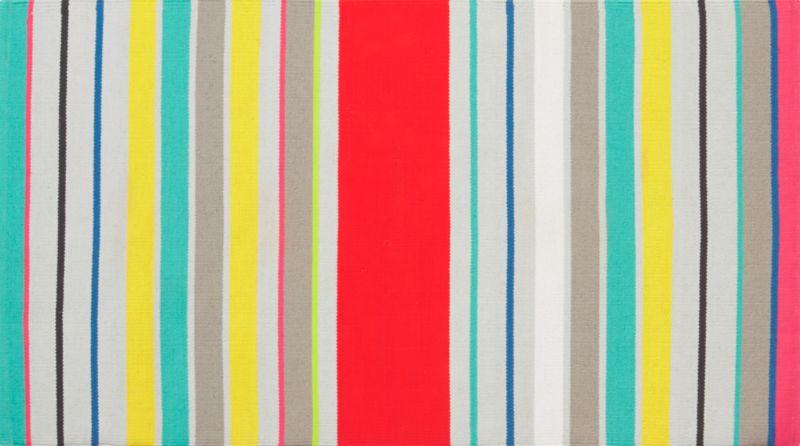 9 stripe dhurrie rug 3'x5'