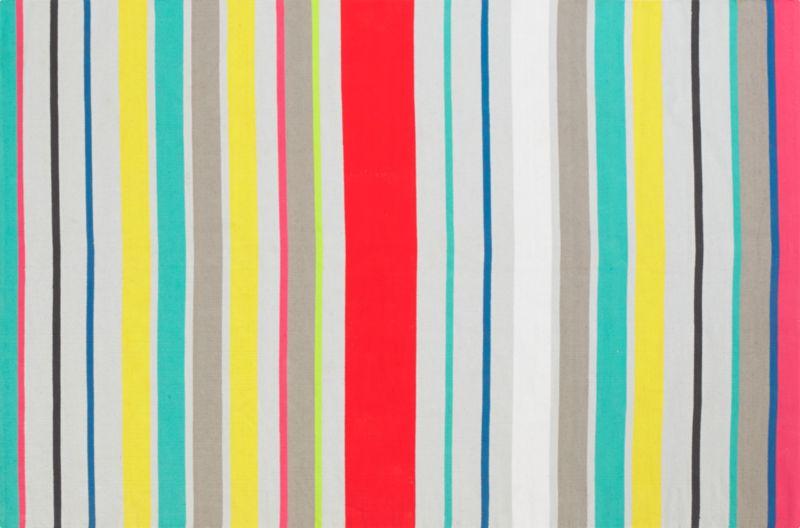 9 stripe dhurrie rug 6'x9'