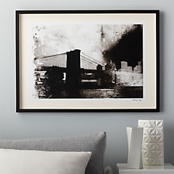 a brooklyn bridge conversation print