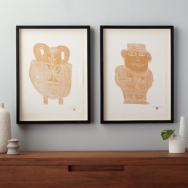 set of 2 aadmi and haathi prints