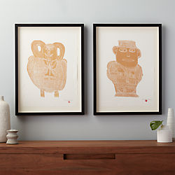 aadmi and haathi set of two prints
