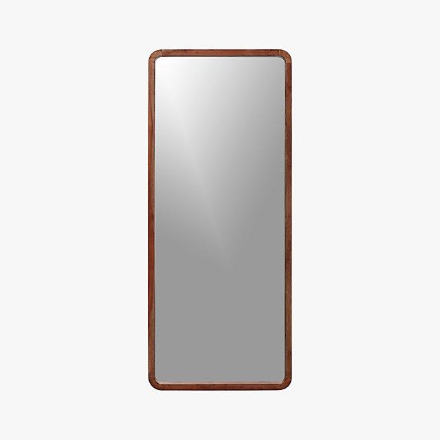 """acacia wood 29.25""""x73"""" floor mirror"""