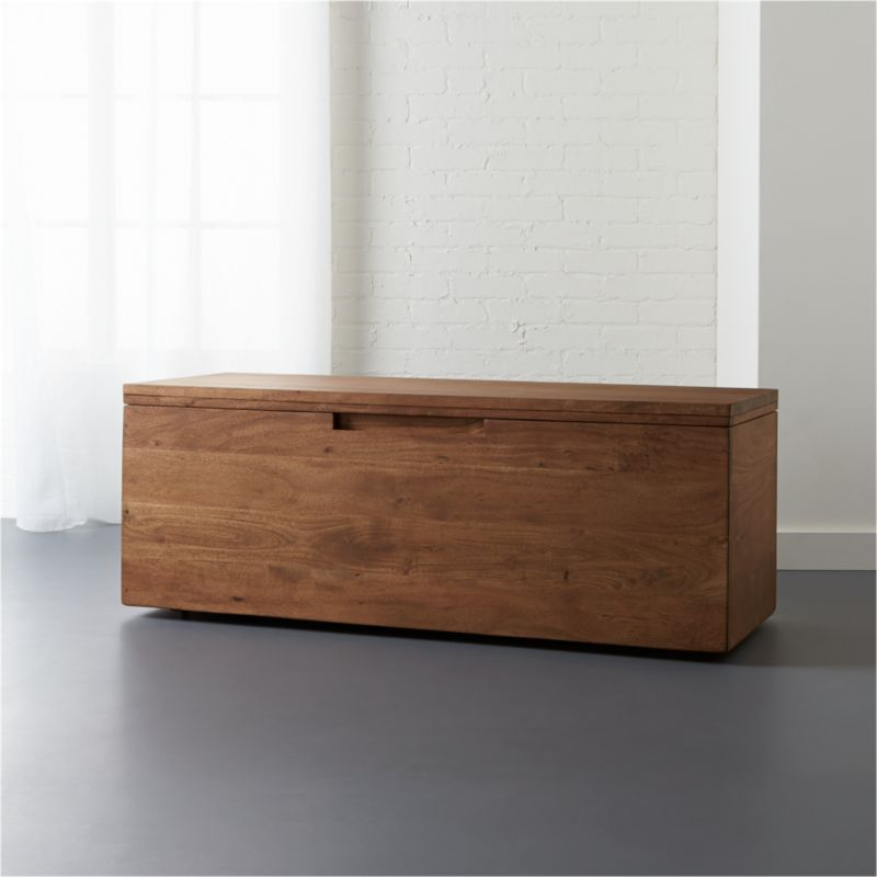 Acacia Storage Bench Cb2