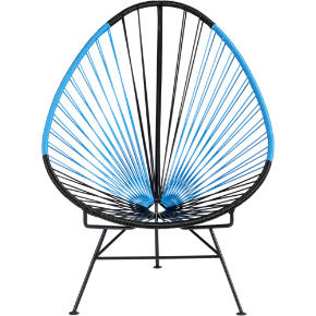 acapulco black/blue lounge chair