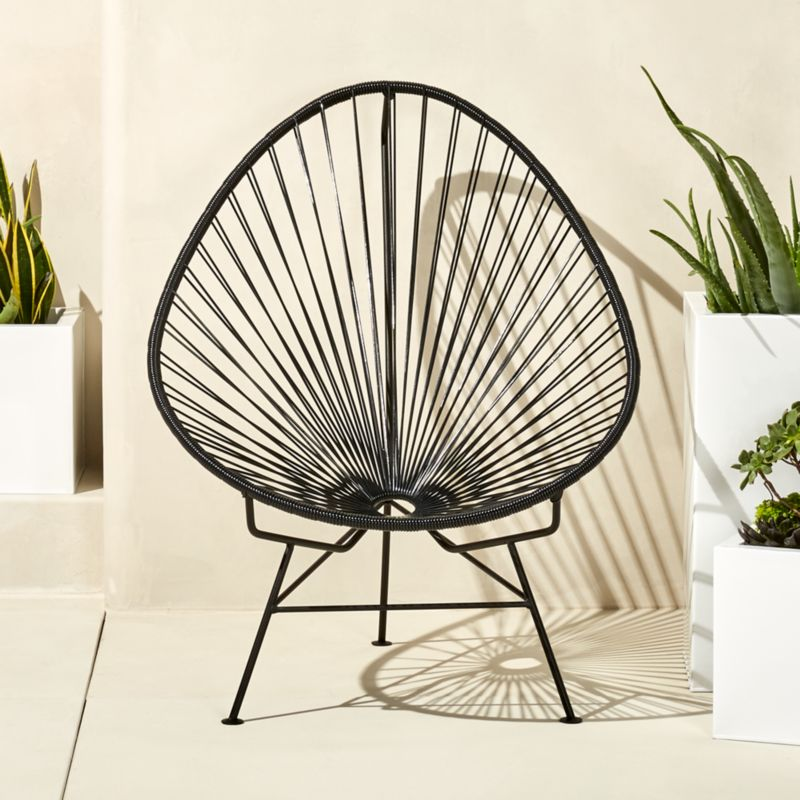 Acapulco Black Egg Outdoor Chair Cb2