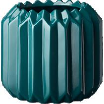 accordion teal planter
