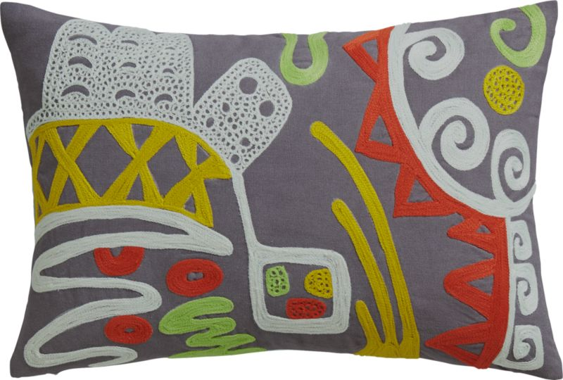 """acosta 18""""x12"""" pillow with feather-down insert"""
