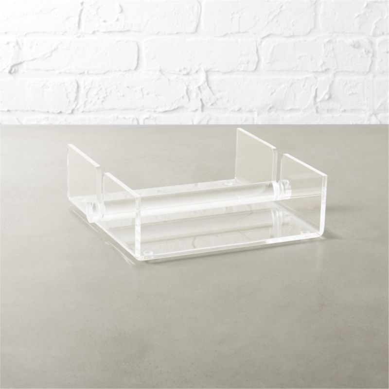 Acrylic Napkin Holder Cb2