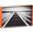 acrylic orange rim 4x6 picture frame.
