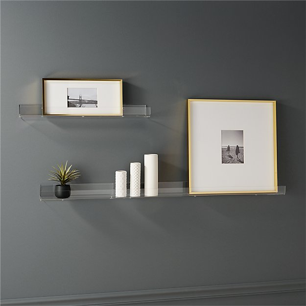 acrylic wall shelves