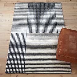 aerial grey rug
