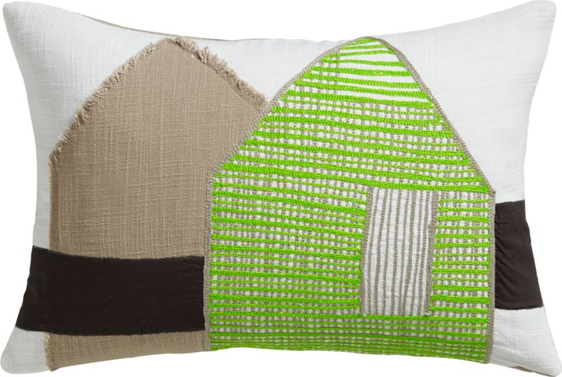 "aframe 18""x12"" pillow with feather-down insert"