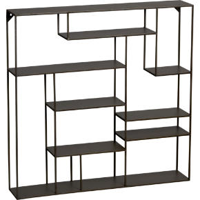 alcove wall shelf shopping in CB2 storage from cb2.com