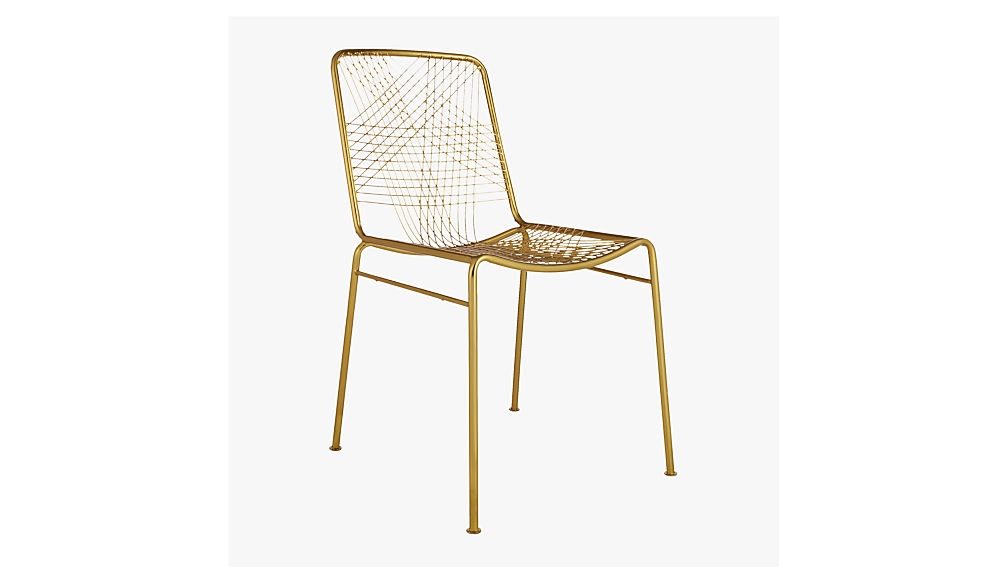 alpha brass chair