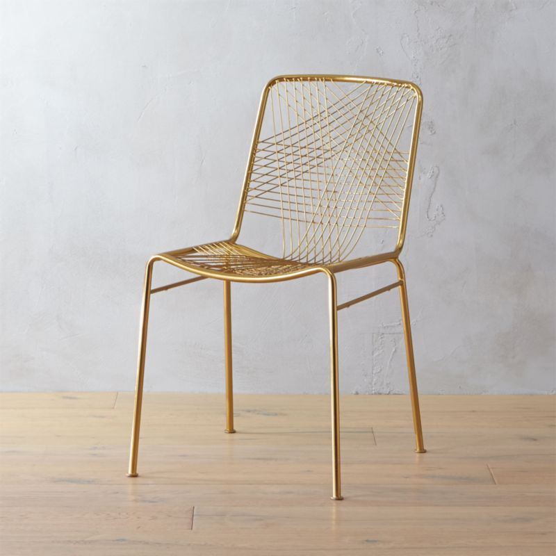 Alpha Brass Chair Cb2