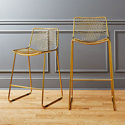 alpha brass bar stools