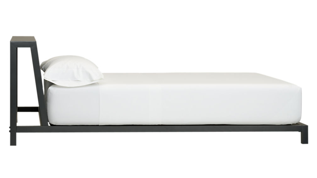 alpine gunmetal queen bed