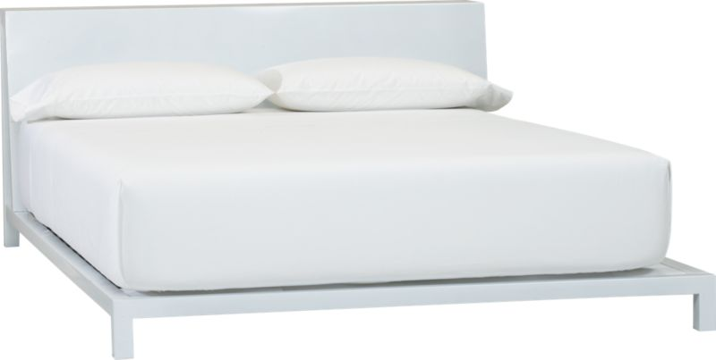 alpine white king bed