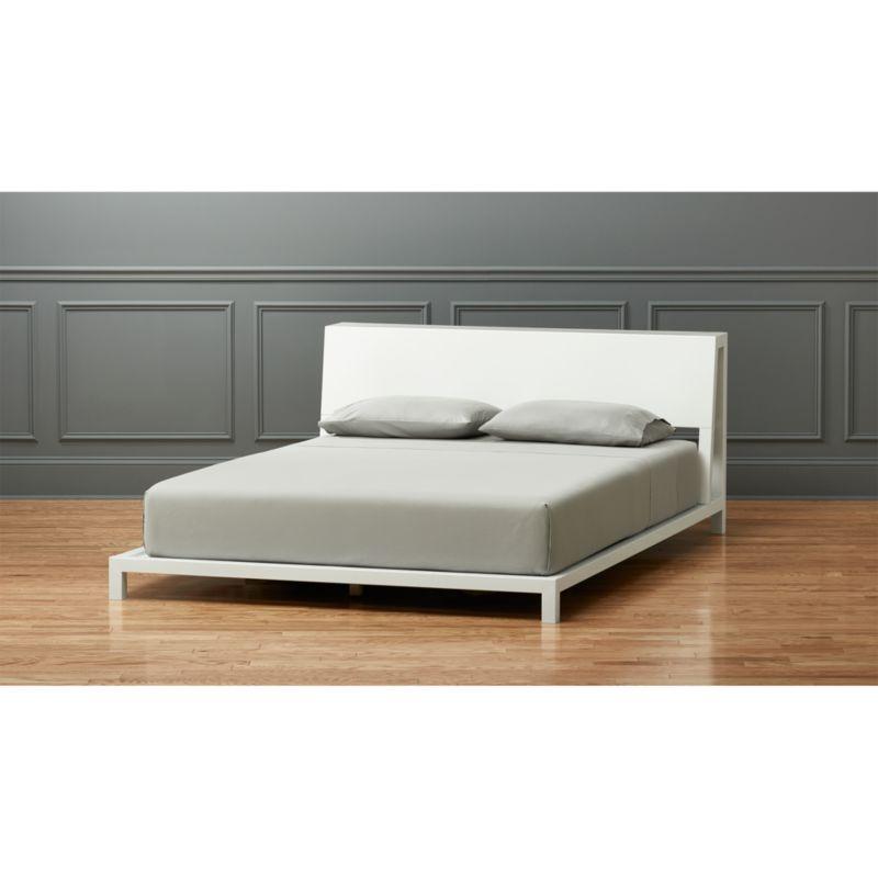 alpine white bed cb2 bedroom furniture cb2