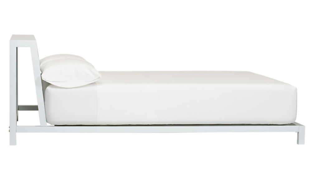 alpine white queen bed