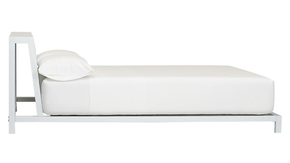 alpine white queen bed