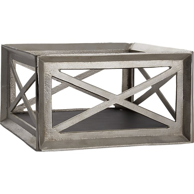aluminum storage crate